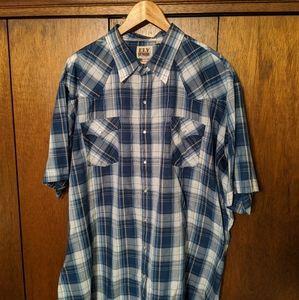 Ely Cattleman Short-Sleeved Western Shirt 3XLT